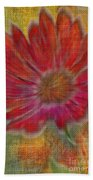 Psychedelic Flower Beach Towel