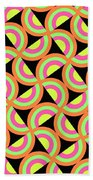 Psychedelic Squares Beach Towel by Louisa Knight