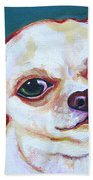 White Chihuahua - Puddy Beach Towel