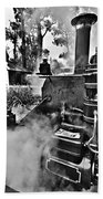 Puffing Billy Black And White V2 Beach Towel