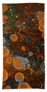Pumpkin Abstract Beach Towel