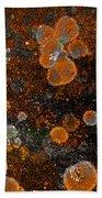 Pumpkin Abstract Square Beach Towel