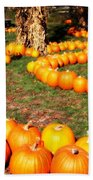 Pumpkin Patch Path Beach Towel by Carol Groenen