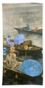 Punts On The Wey At Brooklands Beach Towel