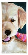 Pup And Toy Beach Towel