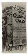 Pure Quaker Oates Beach Towel by Bill Cannon