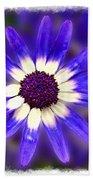 Purple Daisy Photoart Beach Towel