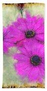 Purple Daisy Trio II Beach Towel