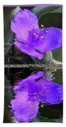 Purple Elegance - Spider Wort Beach Towel