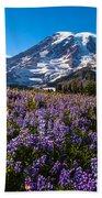 Purple Fields Forever Beach Towel