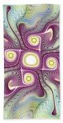 Purple Fractalishus Beach Towel