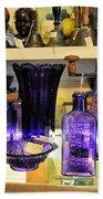 Purple Glass Collection Beach Towel