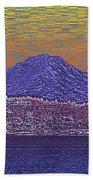 Purple Mountain Majesty Sunset Beach Towel