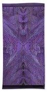 Purple Poeticum Beach Towel