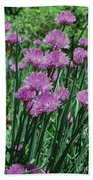 Purple Spikes Beach Towel