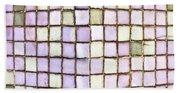 Purple Tiles Beach Towel