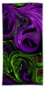 Purple Transformation Beach Towel