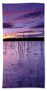 Purple Waters Beach Towel