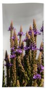Purple Wildflowers  Beach Towel