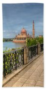 Putrajaya Lake Beach Towel by Adrian Evans