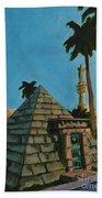 Pyramid Tomb In Cemetary Beach Sheet