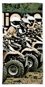 Quad Racers Beach Towel
