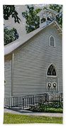 Quaker Church Pencil Beach Towel