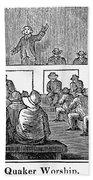 Quaker Worship, 1842 Beach Towel