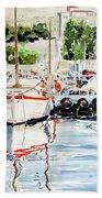 Quattro Barche Al Pennello Di Bonaria Beach Towel