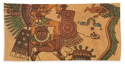 Quetzalcoatl, Aztec Feathered Serpent Beach Towel
