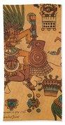 Quetzalcoatl, Aztec Feathered Serpent Beach Towel