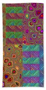 Quilted Fractals Beach Towel