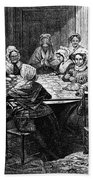 Quilting Party, 1864 Beach Towel