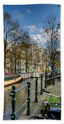 Raamgracht And Groenburgwal. Amsterdam Beach Towel
