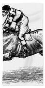 Race Horse, 1900 Beach Towel