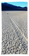 Racetrack Death Valley Trail Of Mystery Beach Towel