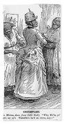 Racial Caricature, 1886 Beach Towel
