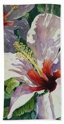 Radiant Light - Hibiscus Beach Towel