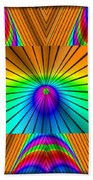 Radiant Rainbow Beach Towel