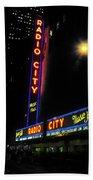 Radio City Music Hall - Greeting Card Beach Towel