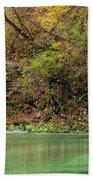 Radovna River In Vintgar Gorge Slovenia Beach Towel