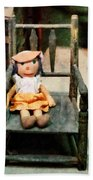 Rag Doll In Chair Beach Towel
