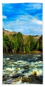 Raging River Beach Towel by Robert Bales