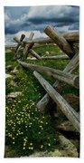 Rail Fence No.1812 Beach Towel