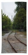 Rail To The Forest Beach Towel