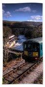 Railcar At Berwyn Beach Towel