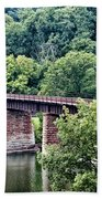 Railroad Bridge At East Falls Philadelphia Beach Towel