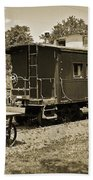 Railroad Car And Wagon Beach Towel