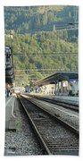 Railway Station West Interlaken Switzerland Beach Towel