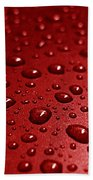 Rain Drops Bloody Red  Beach Towel
